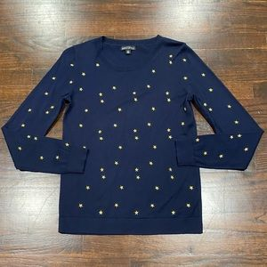 J. Crew Mercantile Lightweight Sweater XS Stars